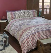Indian Inspired Quilt Duvet Cover & Pillowcase Bedding Bed ...