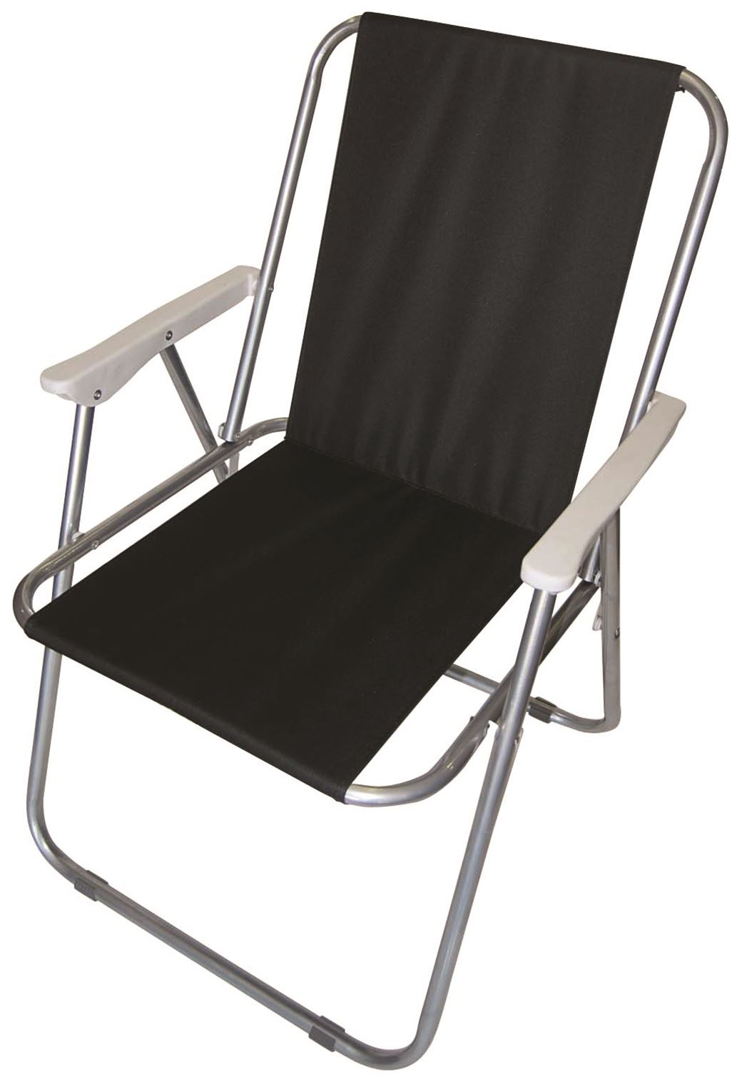 Folding Arm Chair Folding Camping Arm Chair Black Garden Deck Picnic Party