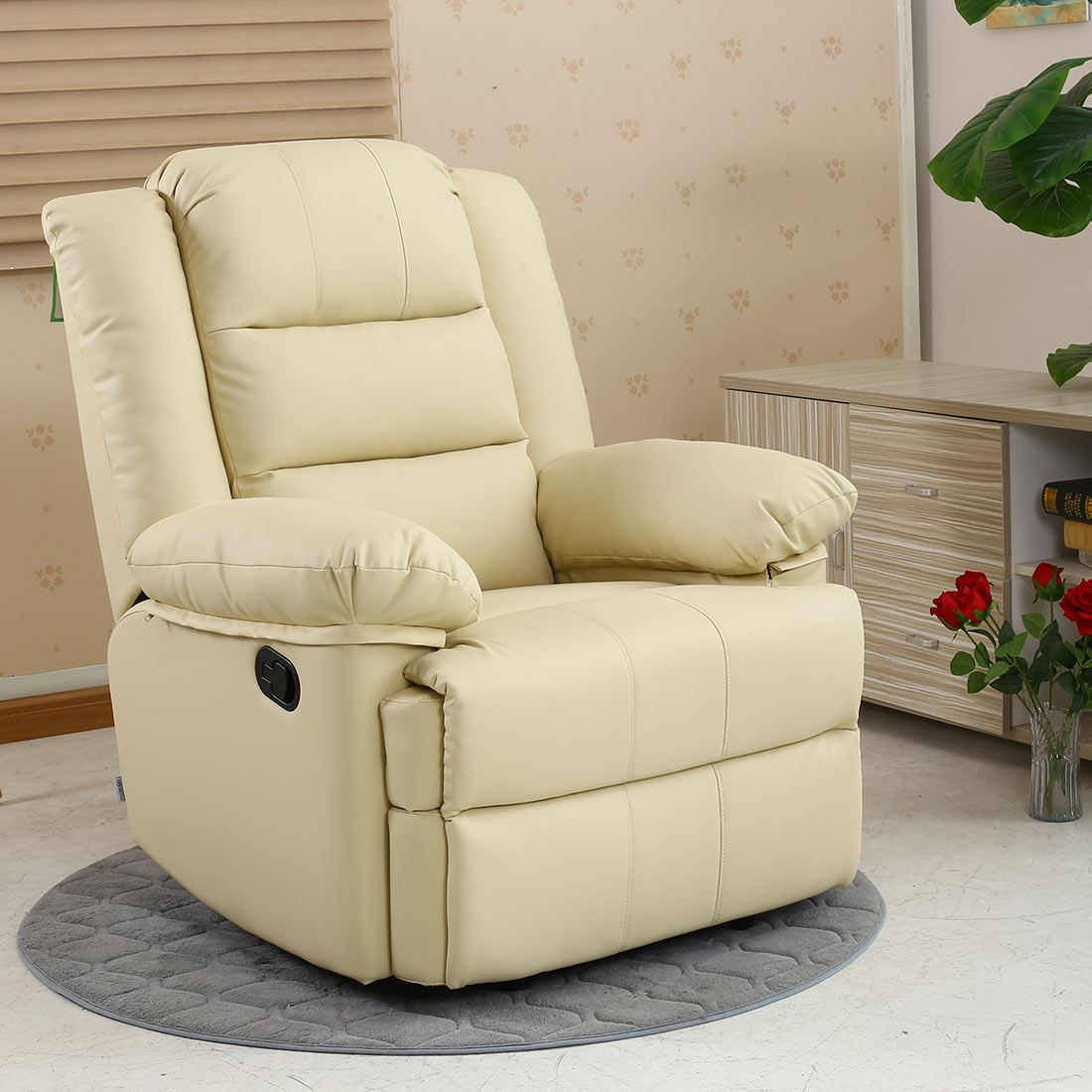 cream lounge chair cosco retro stool loxley leather recliner armchair sofa home