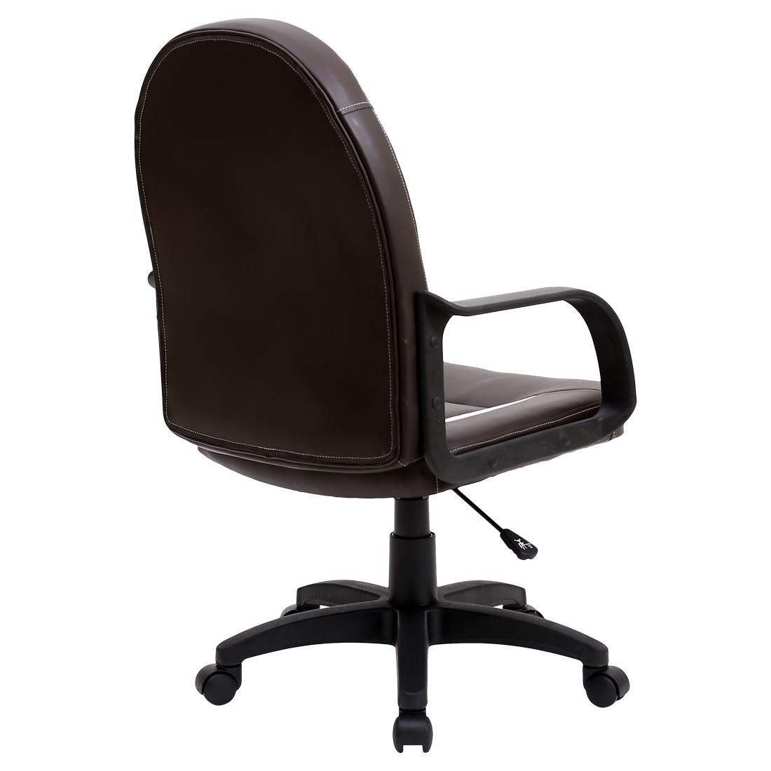Brown Leather Office Chairs Galaxy Brown Leather And Mesh Office Chair Mid Back Computer