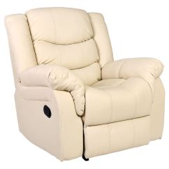 Lounge Chair Leather Party Chairs Seattle Cream Recliner Armchair Sofa Home