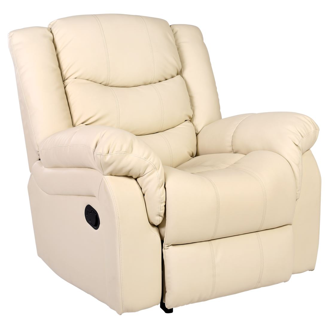 Cream Chairs Seattle Cream Leather Recliner Armchair Sofa Home Lounge