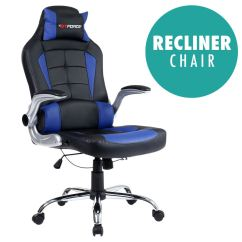 Racing Desk Chair Office Heated Back Support Gtforce Blaze Reclining Leather Sports