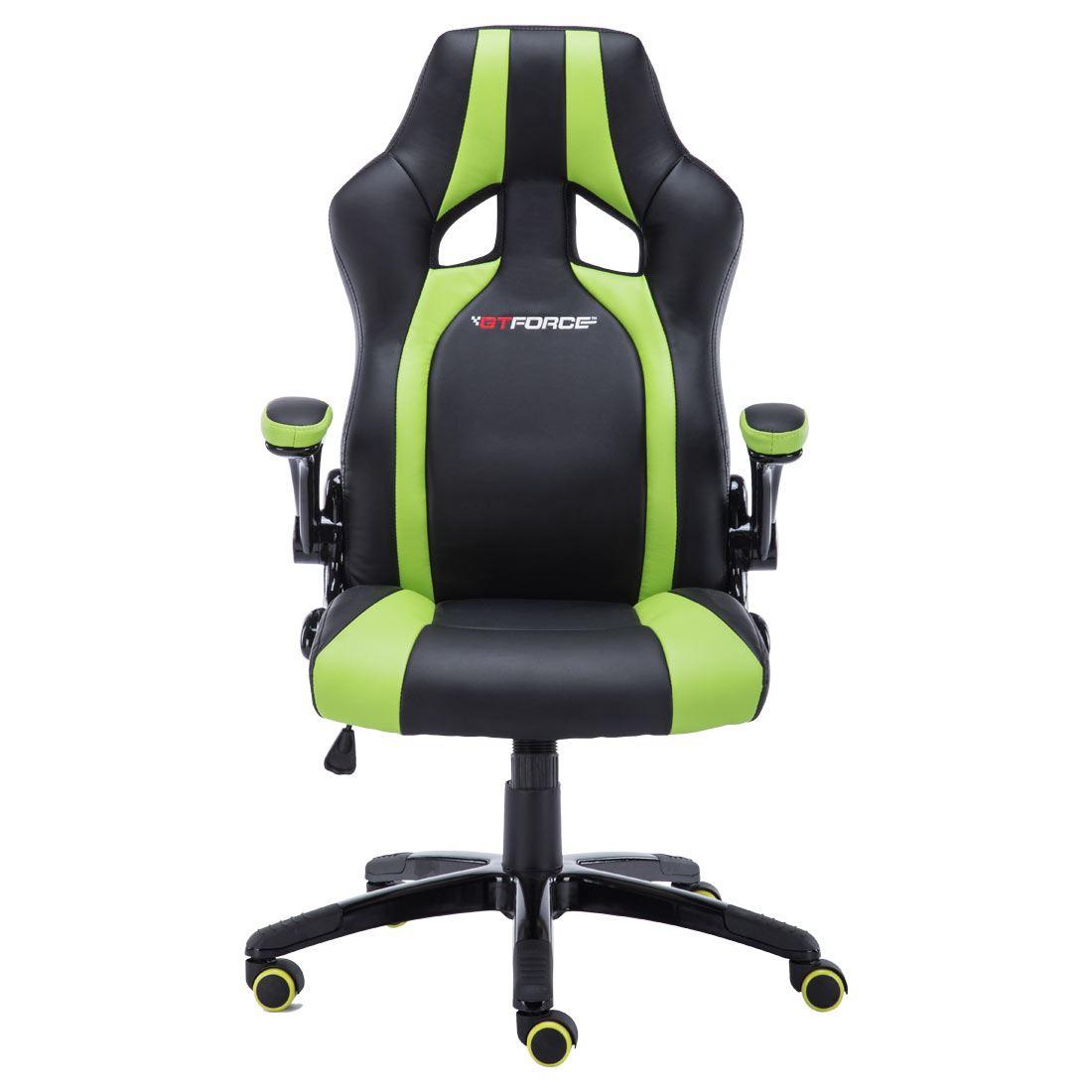 race car desk chair double x back dining gtforce roadster 2 green black sport racing office