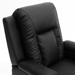 Video Game Chair With Cup Holder High For Girl Oscar Black Leather Recliner W Drink Holders Armchair Sofa