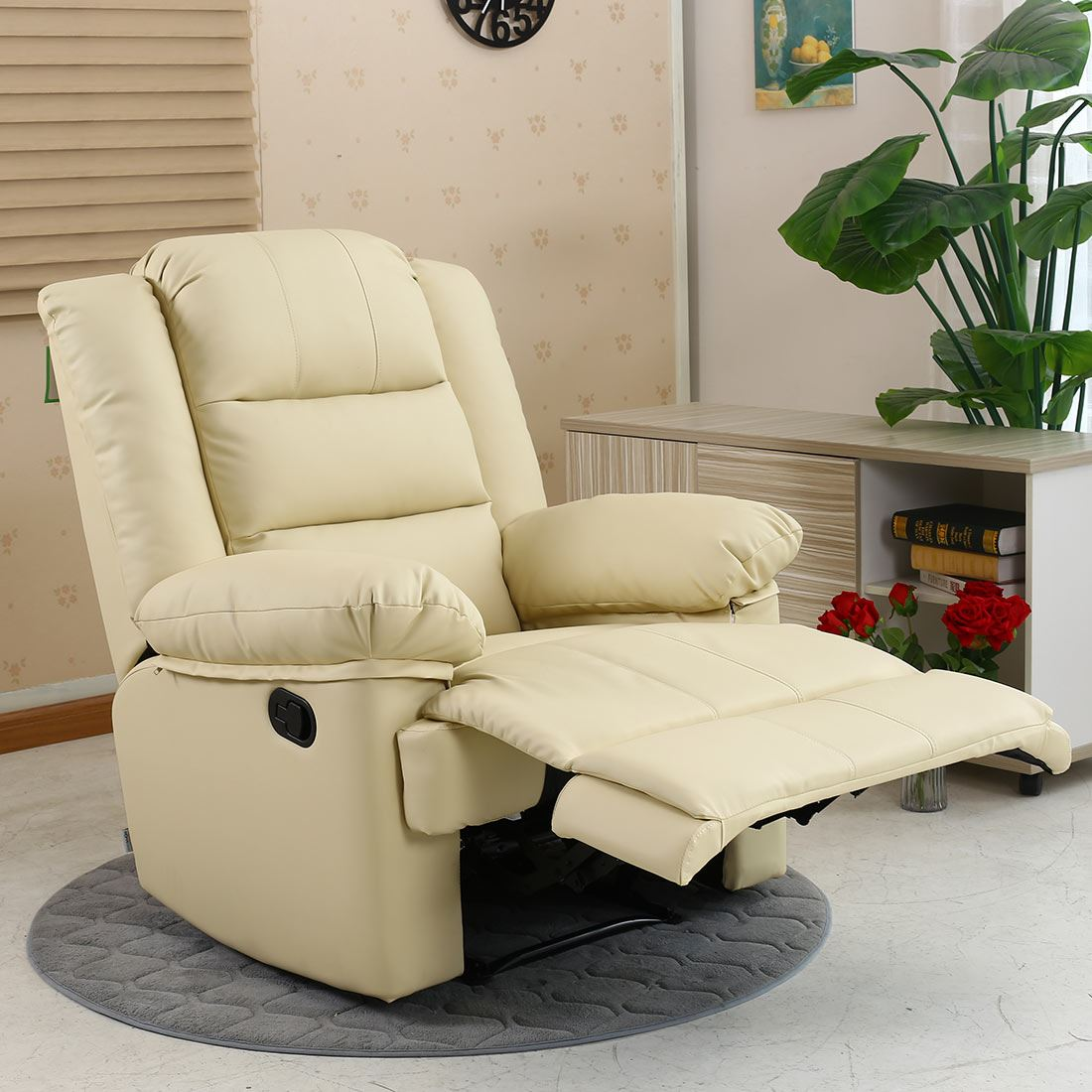 cream lounge chair ikea sleeper loxley leather recliner armchair sofa home