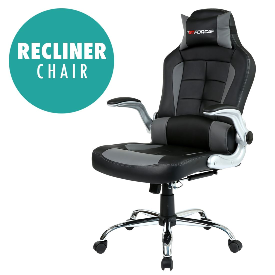 Office Gaming Chair Gtforce Blaze Reclining Leather Sports Racing Office Desk