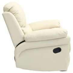 Cream Lounge Chair Lift Recliner Walmart Madison Real Leather Armchair Sofa Home