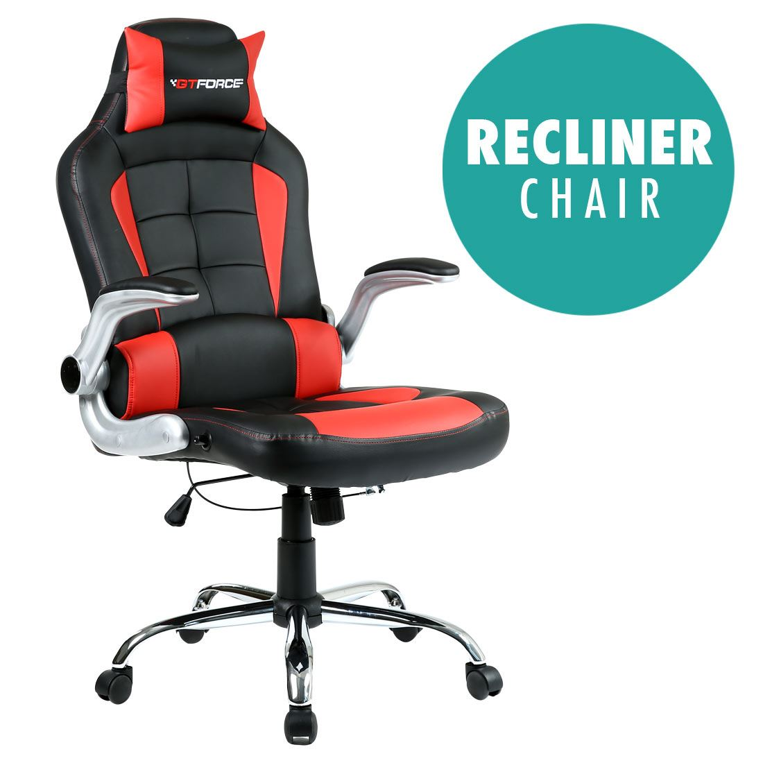 recliner gaming chair card tables and chairs at target gtforce blaze reclining leather sports racing office desk