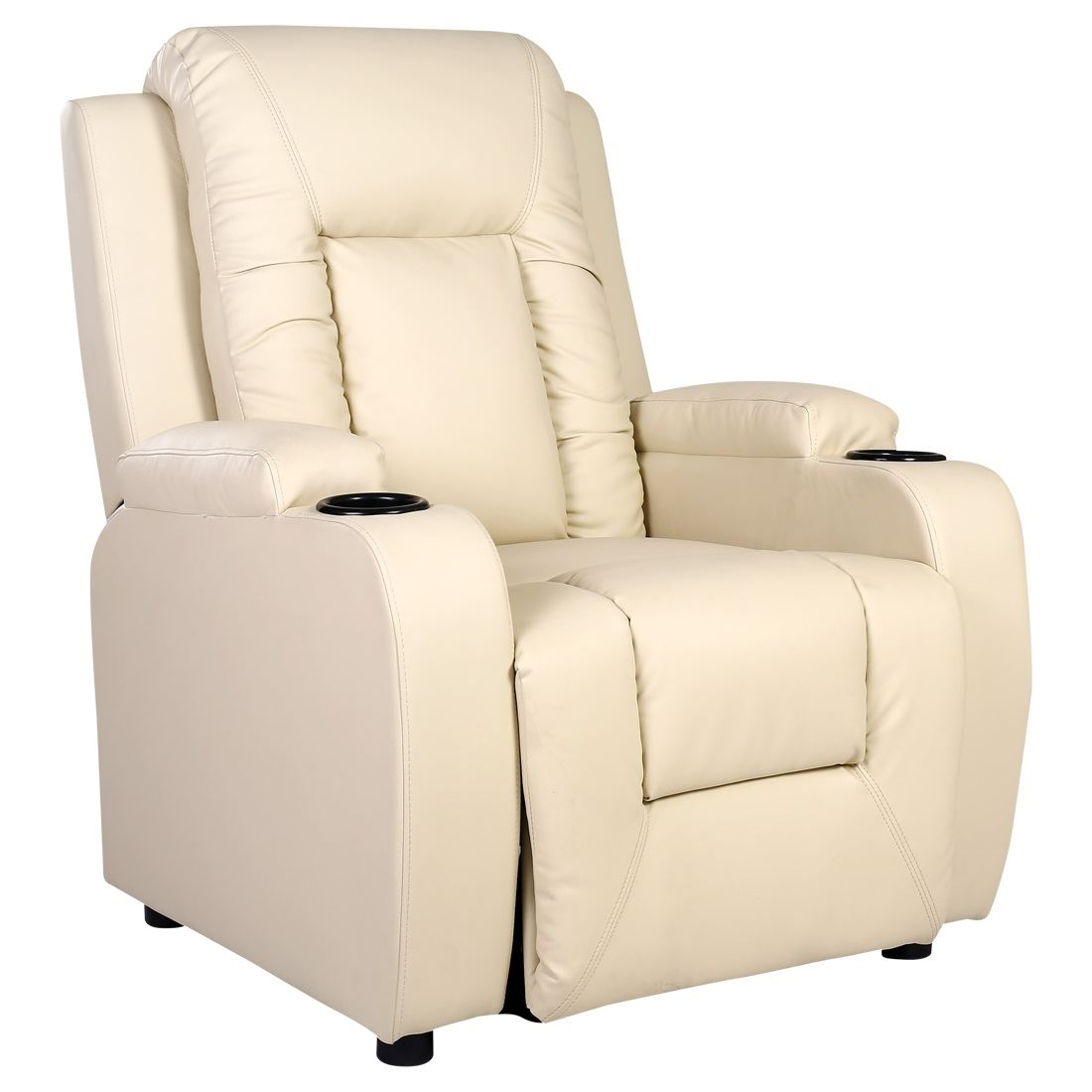 video game chair with cup holder black leather office high back oscar cream recliner w drink holders armchair sofa