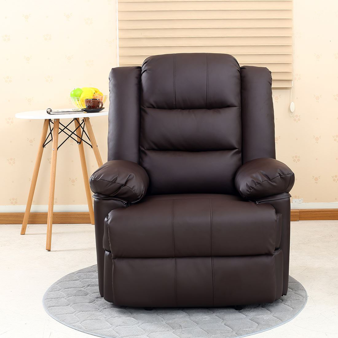 recliner gaming chair makeup vanity with back loxley leather armchair sofa home lounge