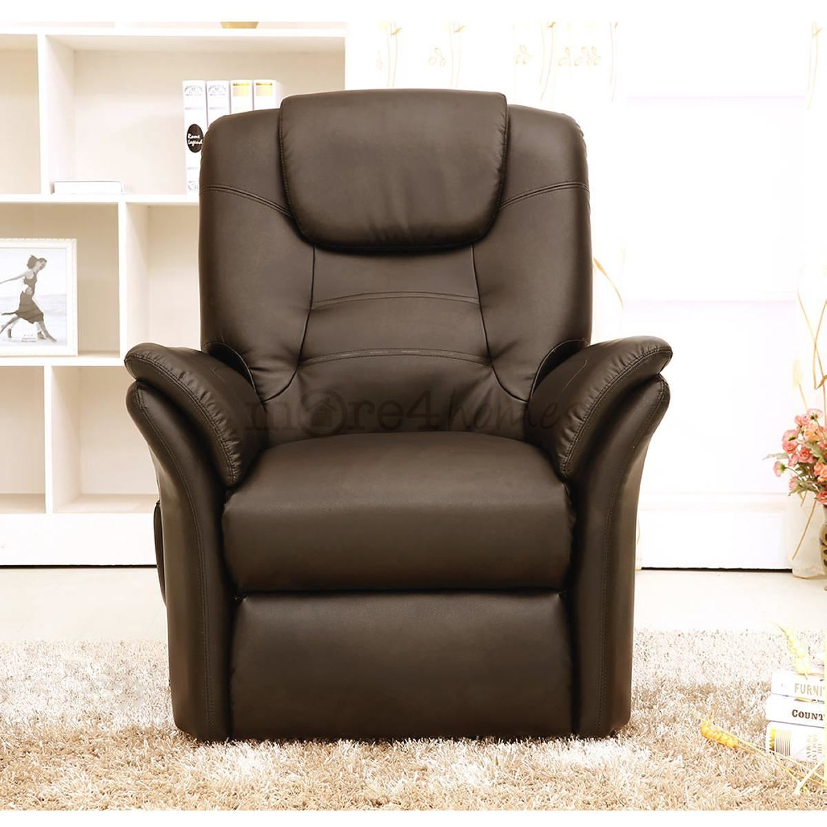 Real Leather Recliner Chairs Windsor Brown Electric Rise Recliner Real Leather Armchair