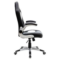 Office Chair With Adjustable Arms Desk Mats Cruz Sport Racing Car Leather