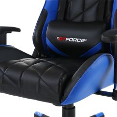 Pro Gaming Chairs Uk Big Man Lounge Chair Gtforce Gt Blue Reclining Sports Racing Office