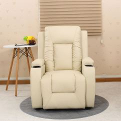 Video Game Chair With Cup Holder Black And White Striped Oscar Cream Leather Recliner W Drink Holders Armchair Sofa