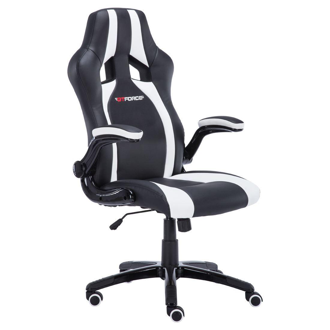 white ergonomic office chair uk bedroom gumtree london gtforce roadster 2 black sport racing car