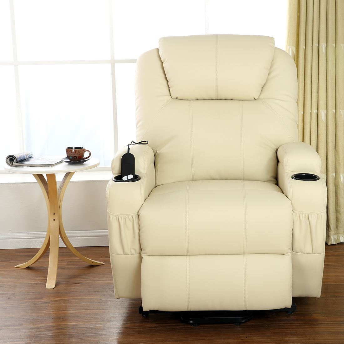 heated chair cover for recliner padmas plantation cinemo cream elecrtic rise leather massage