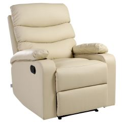 Cream Lounge Chair Exercises For Seniors In Wheelchairs Ashby Leather Recliner Armchair Sofa Home