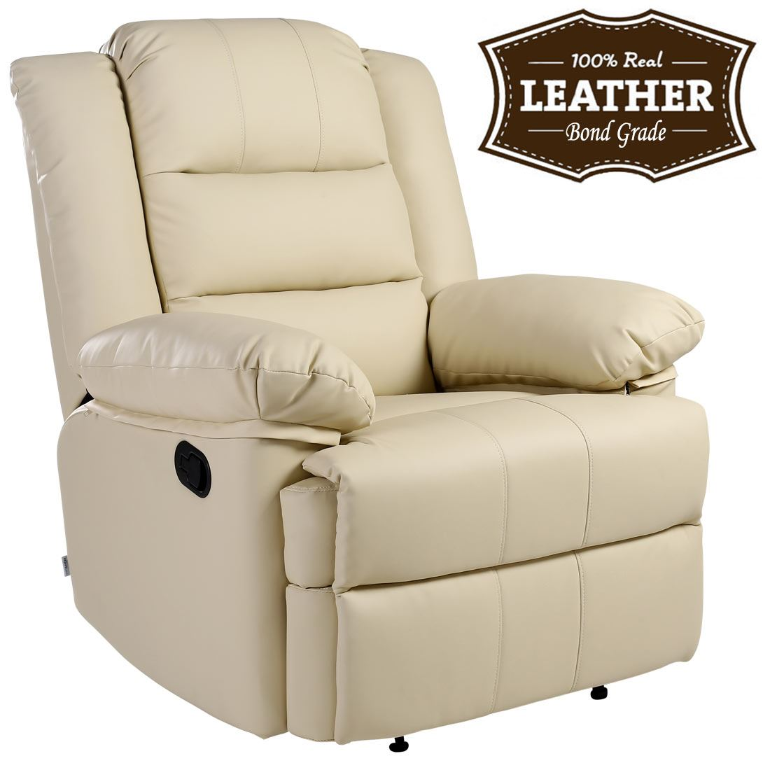 cream lounge chair theater chairs best buy loxley leather recliner armchair sofa home