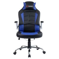 Gamer Computer Chair White Leather Office Australia Gtforce Blaze Reclining Sports Racing Desk
