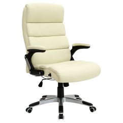 High Back Chairs Uk Only Chair Covers Rental Scarborough Havana Cream Luxury Reclining Executive Leather Office