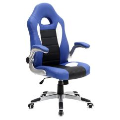 Office Chair With Adjustable Arms King And Queen Chairs Cruz Sport Racing Car Leather
