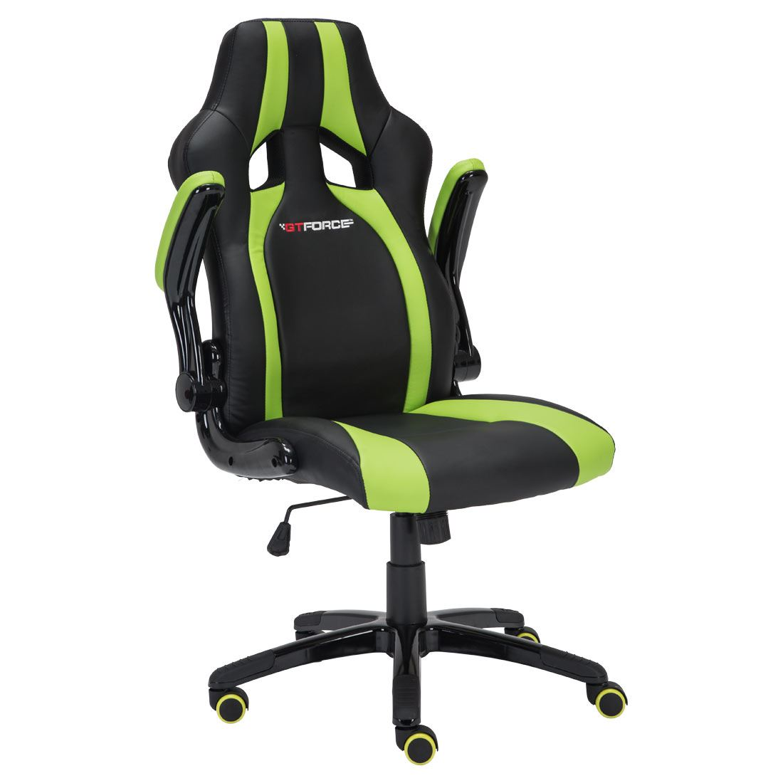 green computer chair brown leather wingback gtforce roadster 2 black sport racing car office