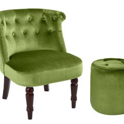 Bedroom Chair On Ebay Black Covers Rental Buttoned Back Chairs Footstool Furniture Velvet