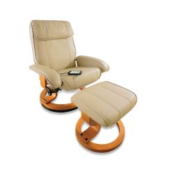 Leather Recliner Chairs With Footstool Walmart Travel High Chair Massage And