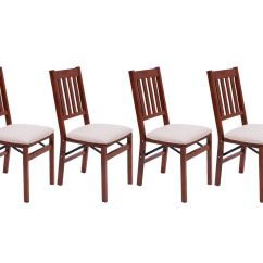 Brown Wooden Folding Chairs Hello Kitty Chair Set Of 4 Arts And Crafts Mahogany Dining