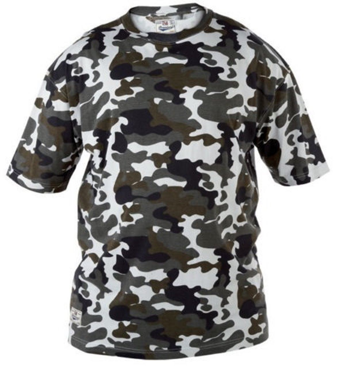 Mens King Size Camo T Shirt Camouflage Tee Big Clothing
