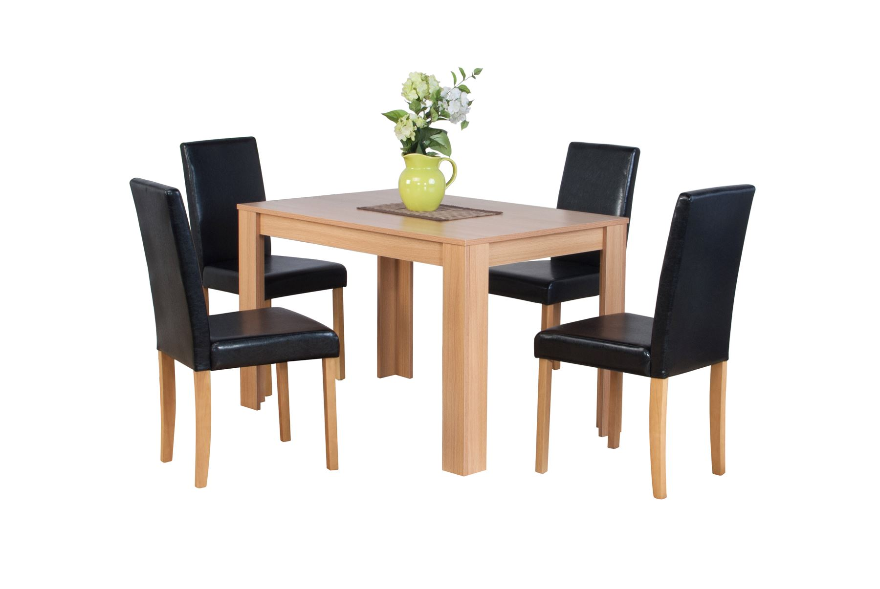 dark brown wooden dining chairs wedding chair covers hire northampton dover natural or oak effect table