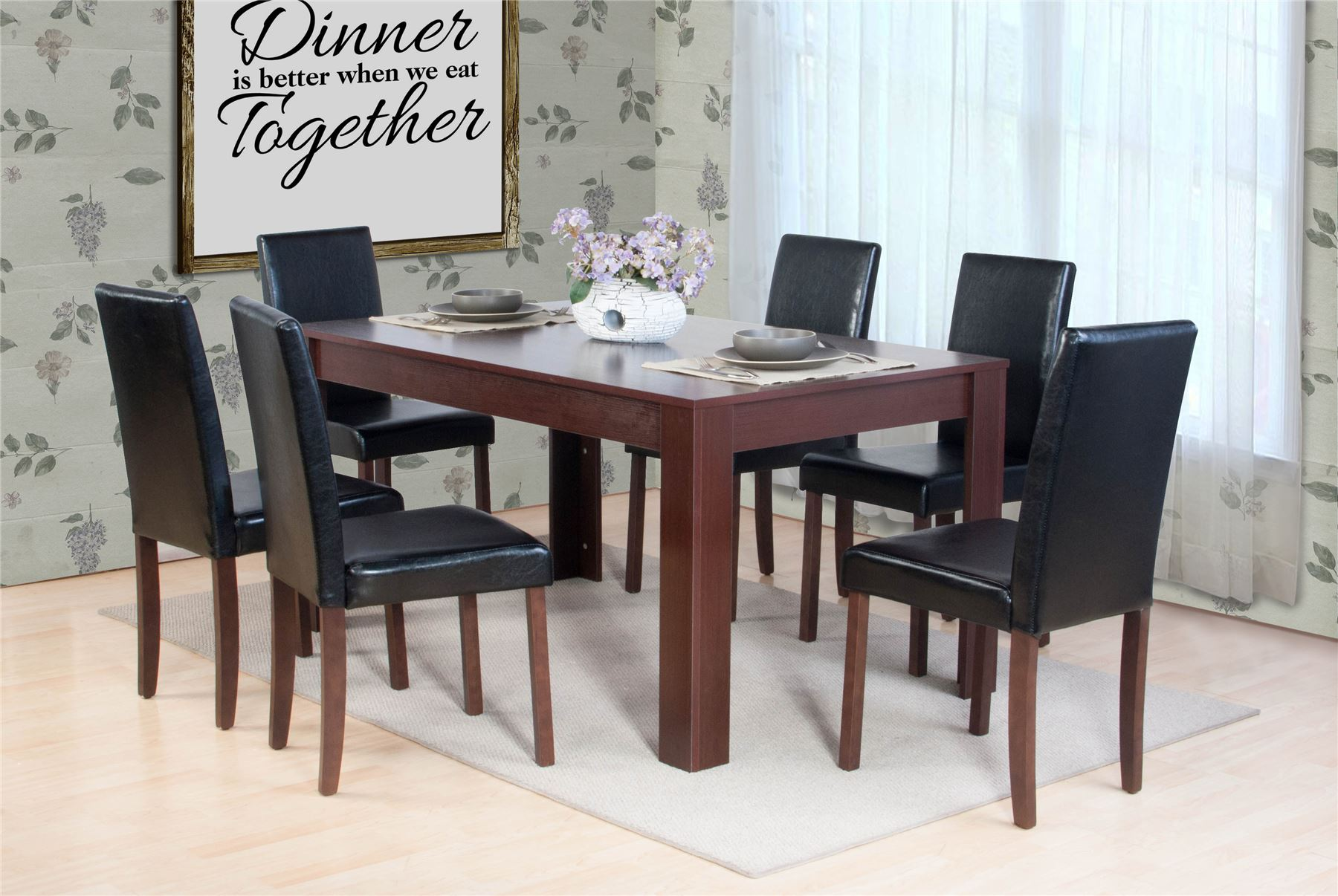 dark brown wooden dining chairs orange chair covers dover natural or oak effect table