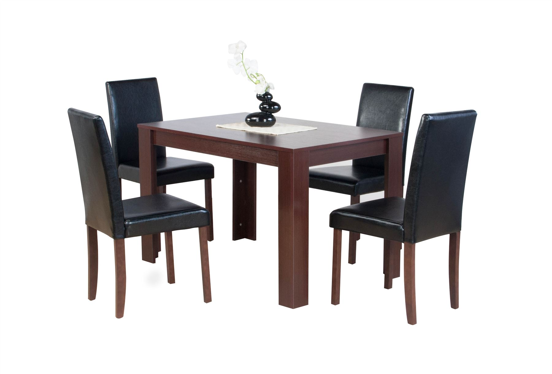 dark brown wooden dining chairs graco duodiner lx high chair instructions dover natural or oak effect table