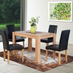 Dark Brown Wooden Dining Chairs Chair Steel Pipes Dover Natural Or Oak Effect Table