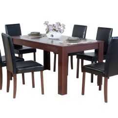 Dark Brown Wooden Dining Chairs Folding Chair Rubber Feet Dover Natural Or Oak Effect Table