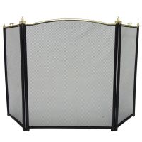 Fire Guard Freestanding Panel Spark Fireplace Screen ...