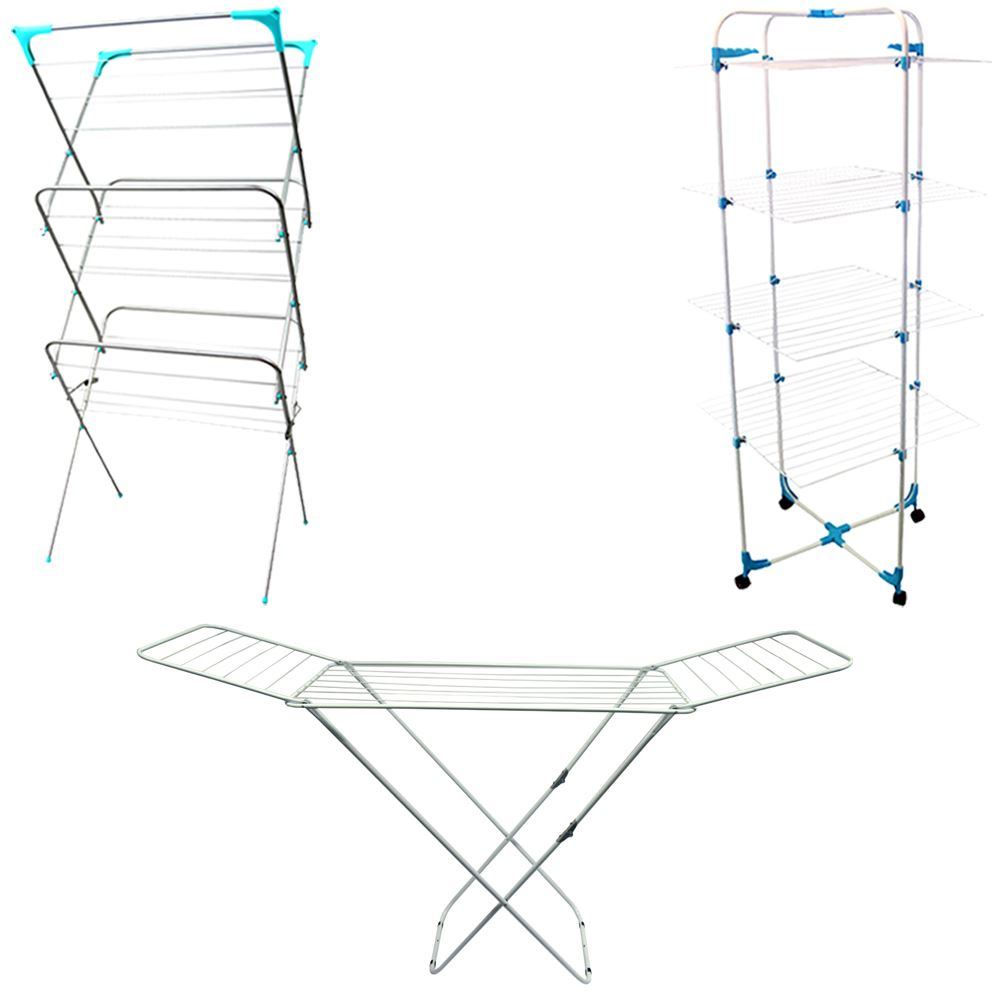 Clothes Airer Horse Winged Tier Tower Indoor Dryer Laundry