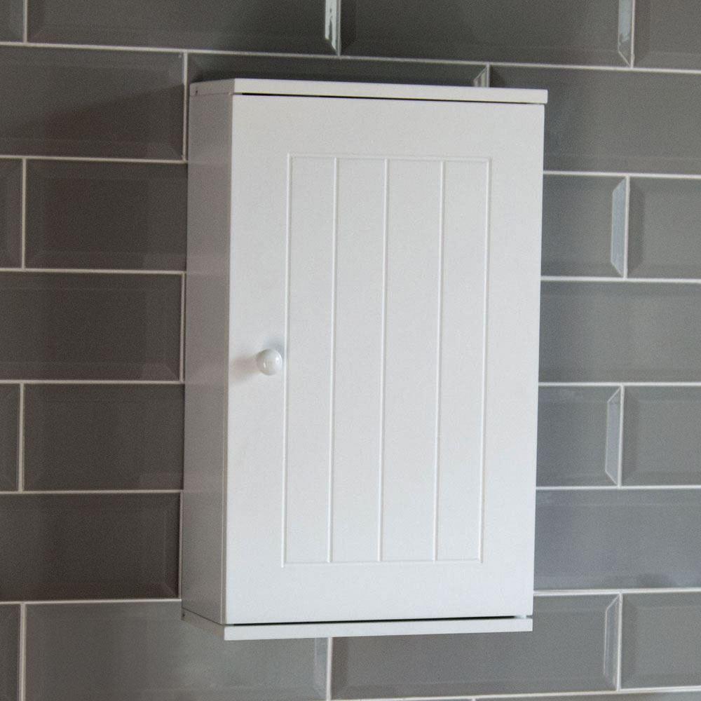 Priano Bathroom Cabinet Wall Mounted Single Door Cupboard