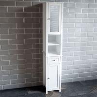 Milano Tall Bathroom Cabinet Mirrored Door Cupboard ...