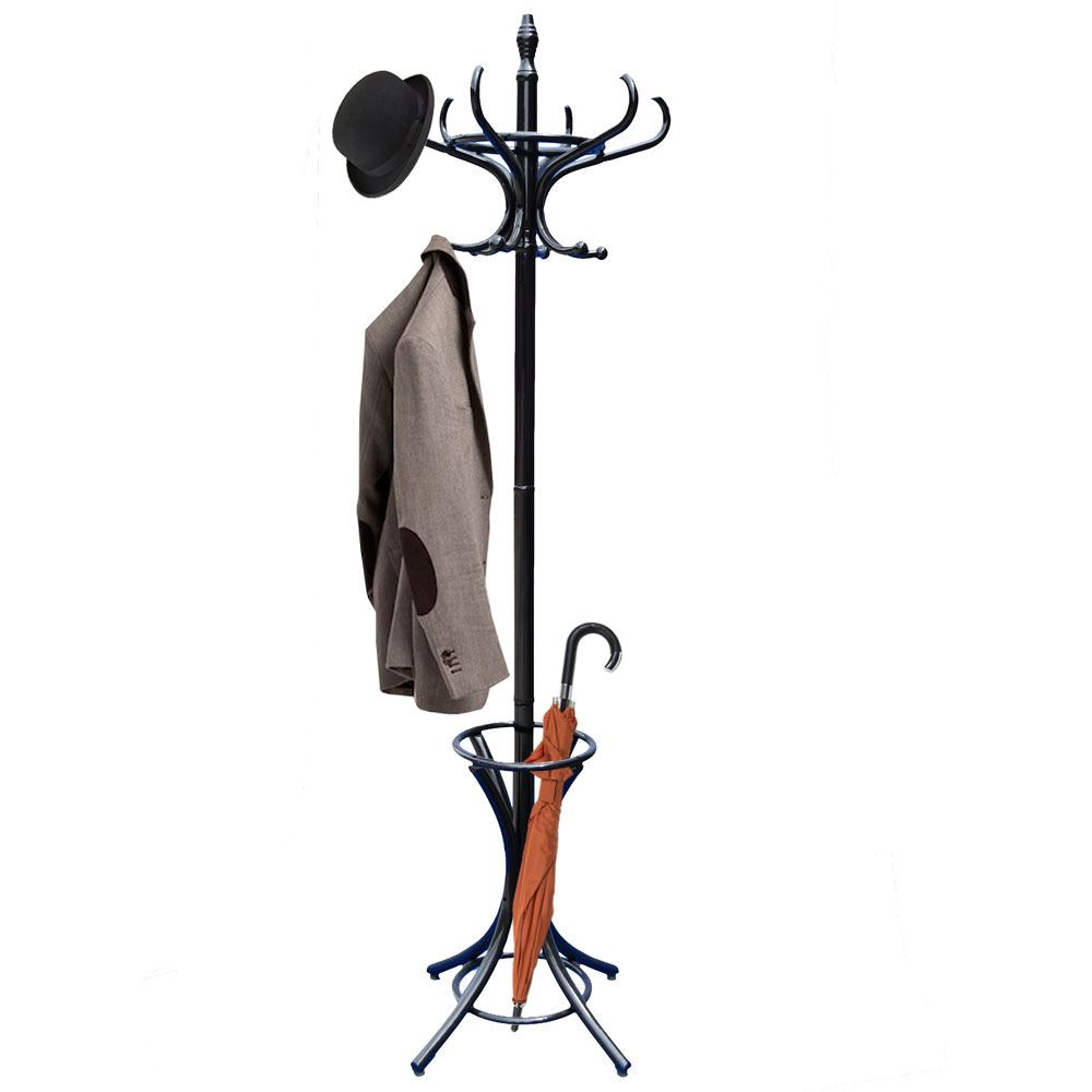 Coat Stand Black Hook Coat/Hat/Jacket/Umbrella Standing