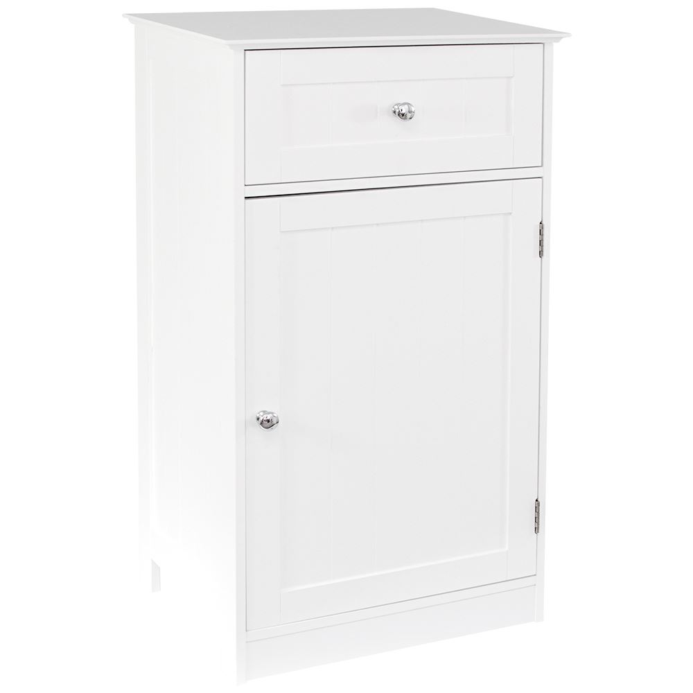 PRIANO FREE STANDING UNIT 1 Drawer 1 Door White Bathroom