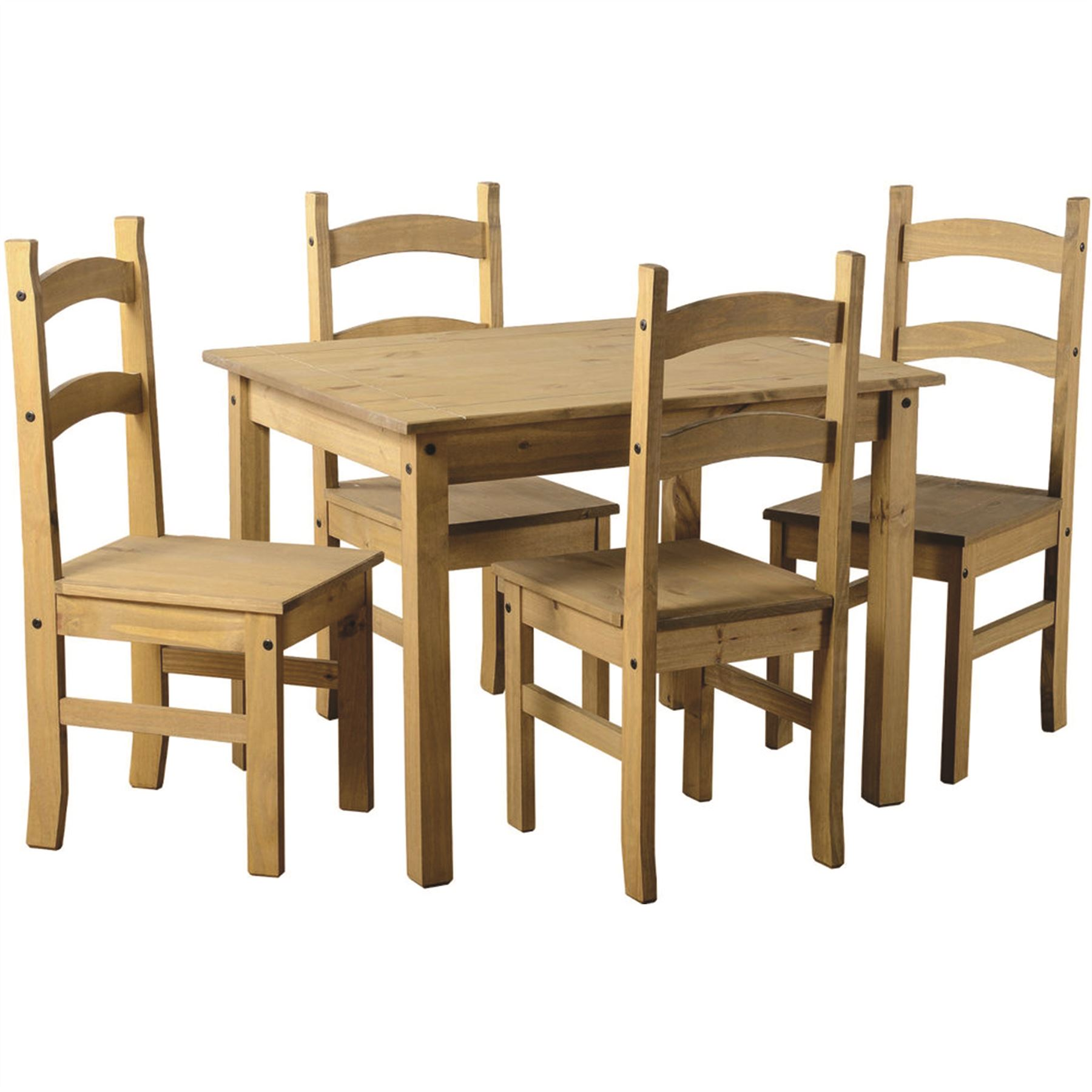 4 seater table and chairs sling replacement for patio corona dining set solid waxed pine
