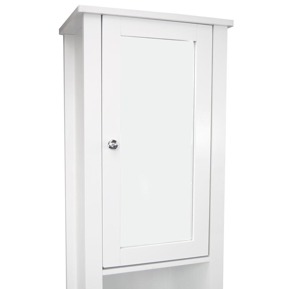 Milano Tall Bathroom Cabinet Mirrored Door Cupboard