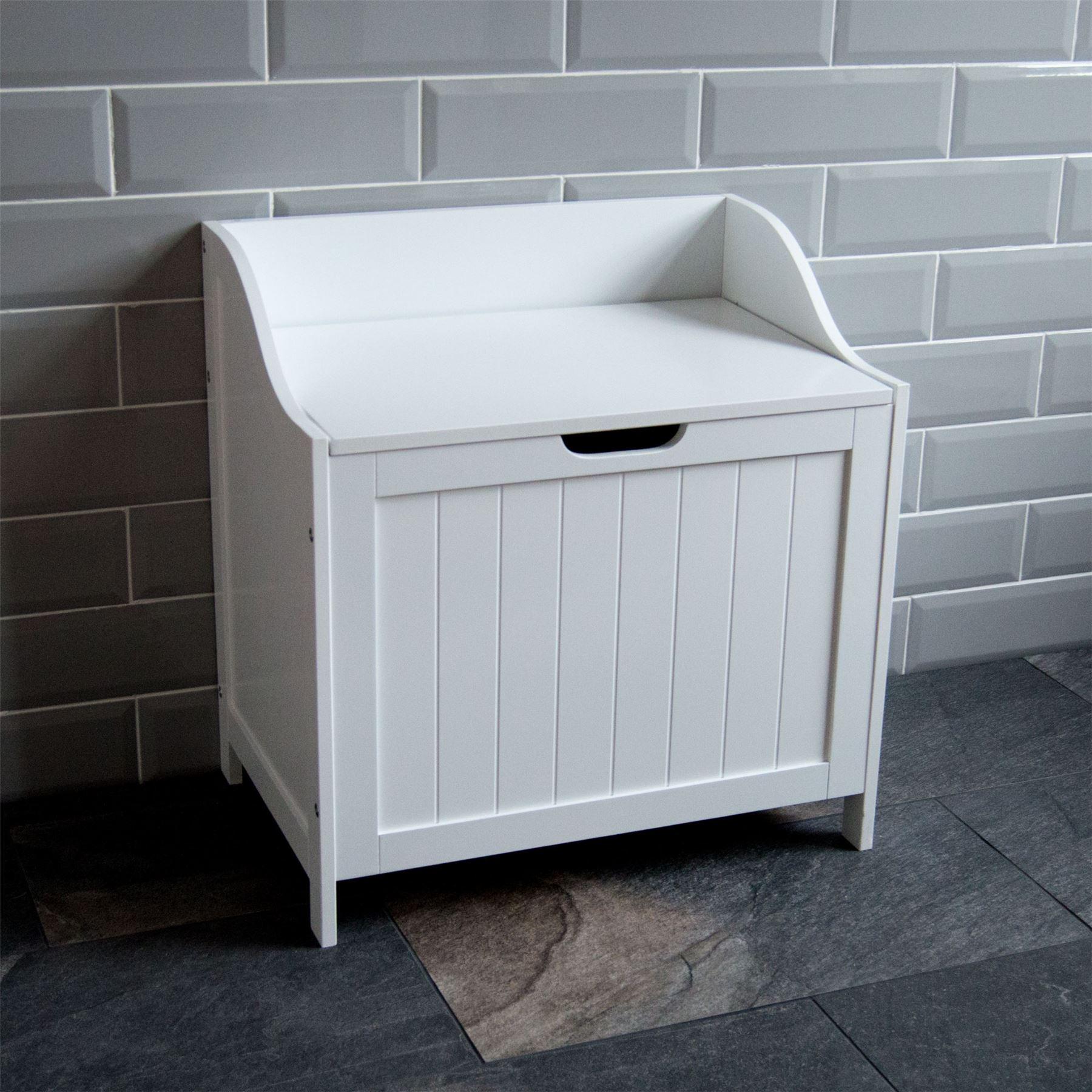 Priano Bathroom Laundry Cabinet Storage Bin Chest Basket