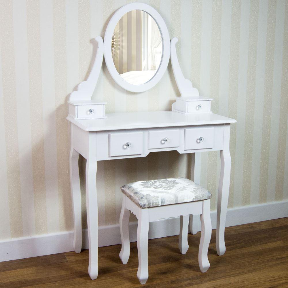 Nishano Dressing Table Drawer Stool Mirror Bedroom Makeup