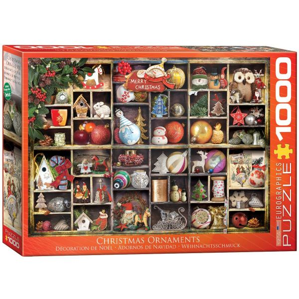 Eurographics Christmas Ornaments 1000 Piece Jigsaw Puzzle