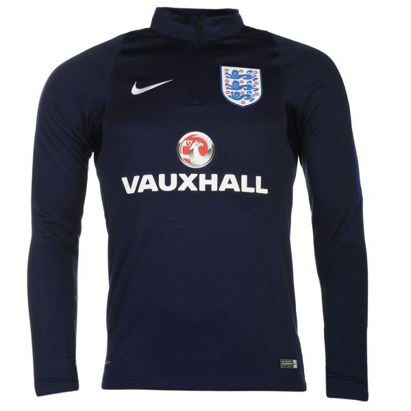 Nike England Mens Drill Training Sweatshirt Navy