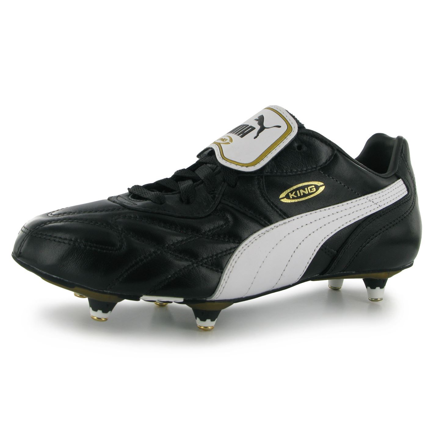 Puma King Pro Soft Ground Mens Football Boots BlackWhite