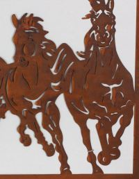 Cantering Horses Metal Art | Laser Cut Rustic Wall ...